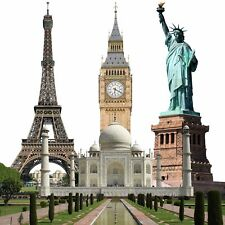 Famous Wonders of the World Landmark Cardboard Cutout Decoration Backdrop Prop