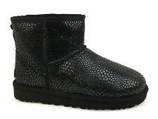 UGG W Classic Mini Glitzy ankle boot spotted LEATHER BLACK 1019637W winter 2018