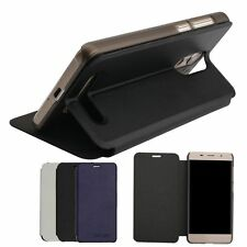PU Leather Stand Flip Built-in Case Cover Skin For Leagoo M5 Edge Cell Phone