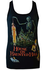 LADIES BLACK FITTED VEST HOUSE ON HAUNTED HILL VINCENT PRICE CULT B MOVIE  S_2XL