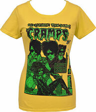 LADIES YELLOW T-SHIRT THE CRAMPS PSYCHOTIC TEENS GARAGE PUNK PSYCHOBILLY S-2XL