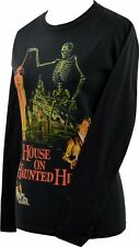 LADIES LONG SLEEVE T-SHIRT TOP HOUSE ON HAUNTED HILL VINCENT PRICE HORROR S-2XL