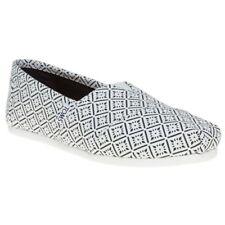 New Womens Toms White Multi Classic Canvas Shoes Slip On
