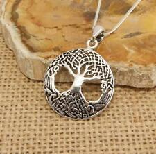 925 Sterling Silver Celtic Tree of Life Pendant Necklace Jewellery