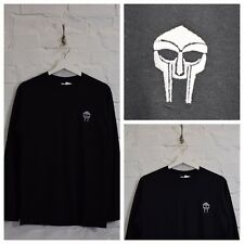 Actual Fact DOOM Insignia Bordada DOOM MF Negro Camiseta manga larga camiseta
