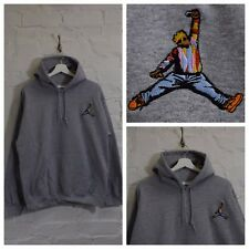 Actual Fact Biggie x Jordan Hip Hop Heather Gris Grande Capucha Sudadera Con