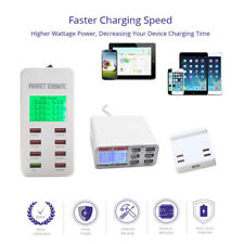 4/6/8 USB Ports Desktop Fast Charger Station with Bracket  LCD Screen Display FL