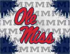 Ole Miss Rebels HBS Gray Navy Wall Canvas Art Picture Print