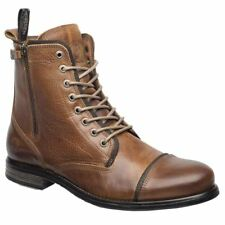 Sneaky Steve Fordham Cognac Mens Leather Combat Ankle Boots