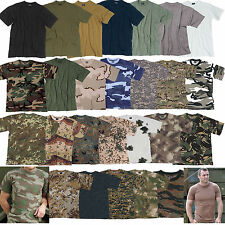 US CAMISETA T-SHIRT Ejército Tarn s-4xl Muchos Colores, Liso Camuflaje BW