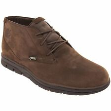 Timberland Bradstreet Casual Chukka Dark Brown Mens Nubuck Lace-up Ankle Boots
