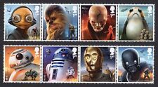 2017 STAR WARS Mint Stamp Set of 8 with or without Carrier Card SG 4007 - 4014