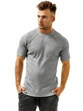 2(X) ist Col ras-du-cou Sweat Manches Courtes tee-shirt rond fitness gris