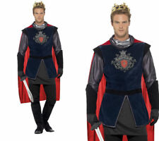 King Arthur Mens Medieval Kings Fancy Dress Costume Sizes M-XL