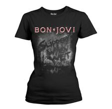 Bon Jovi 'Slippery When Wet' Girlie T shirt - NEW womens shirt