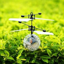 Infrared Induction Flying Flash Disco Colorful LED Ball Helicopter Kids Toy A1