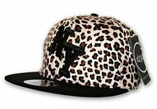 itzu Co. NEW YORK 3d NY Bloque Estampado Leopardo Visera Plana Snapback Gorra