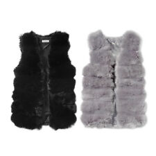 Women Waistcoat Gilet Winter Warm Long Slim Vest Jacket Coat Outwear Black/Gray