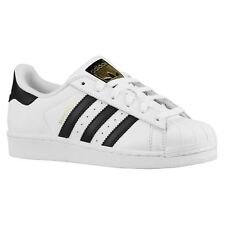 Adidas Superstar Blanc Noir Jeunes Baskets Pointure