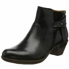 Pikolinos Rotterdam 902-8902 Black Womens Leather Ankle Boots