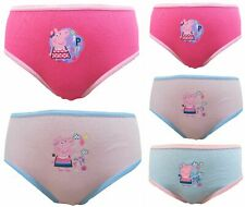 Peppa Pig Filles 5 pack 100% coton Culottes / Slips 18 mois - 5 ans