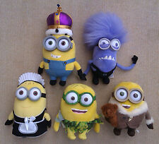 MINIONS from DESPICABLE ME 2 - SELECTION OF PLUSH TOYS.