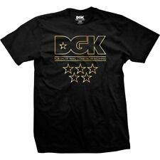 DGK SKATEBOARDS 'SHINE' Mens T-Shirt, Black/Gold, BNWT