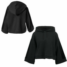 Puma Xtreme Copped Womens Pullover Black Hooded Top Jumper 573156 01 U108