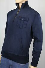 Polo Ralph Lauren Blue Half 1/2 Zip Sweater Elbow Patches NWT $185
