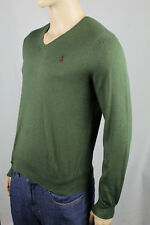 Polo Ralph Lauren Green Pima Cotton Sweater Burgundy Pony NWT