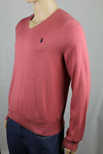 Polo Ralph Lauren Red Pima Cotton Sweater Navy Blue Pony NWT