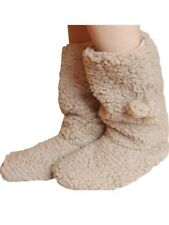 Ladies/Teenagers TAUPE Supersoft Warm & Cosy Sherpa Boot Slippers  size  UK  4-7