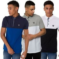 rawcraft NEUF pour hommes Polo manches courtes contraste couleur col chemise