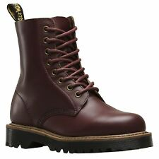 Dr.Martens Pascal II 8-Eyelet Oxblood Womens Vintage Smooth Leather Combat Boots