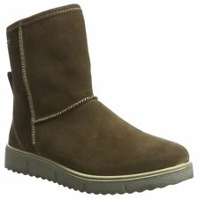 Legero Campania 1-00654-47 Fango Womens Suede Snow Mid-calf Zip-up Boots