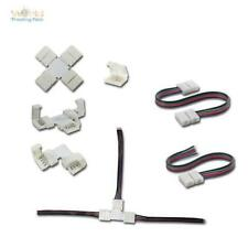 LED RGB Tira Accesorio conector PUENTES Adaptador Enchufe Cable 4 Pines 4PIN