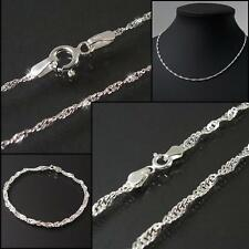 Singapore catena argento 925 niklarson Collana Collana Argento Sterling VE27