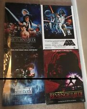 """4 Different Star Wars Canvas Prints 13""""x 18""""  On A Wooden Frame"""