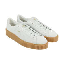 Puma Mens Fenty by Rihanna Riri White Suede Creepers 36217803 Sneakers Shoes