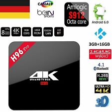 H96 PRO Android 6.0 Smart TV BOX Wifi Bluetooth Amlogic S912 Octa Core 3GB 16GB