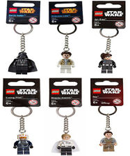 Star Wars Lego Key Rings - Darth Vader - Princess Leia - Jun Erso - Y-Wing Pilot