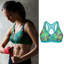 Shock Absorber Active Zipped Plunge Sports Bra Geometric Print 32-38 B-F