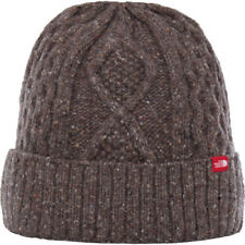 North Face Lambswool Mens Headwear Beanie Hat - Falcon Brown One Size