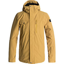 Quiksilver Mission Mens Jacket Snowboard - Mustard Gold All Sizes