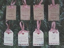Wooden Christmas Tree Decoration Handcrafted With Lovely Sayings Xmas Plaque
