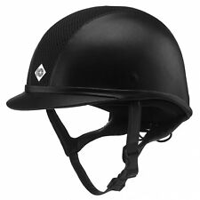 Charles Owen Ayr8 Leather Unisex Safety Wear Riding Hat - Black All Sizes