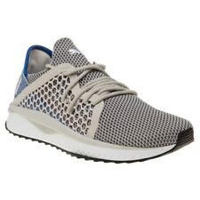 New Mens Puma Grey TSUGI Netfit Nylon Trainers Running Style Lace Up