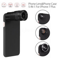 6 in 1 9X Telephoto Wide-angle Macro Fisheye Lens Kit Case For iPhone 7 7 Plus