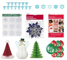 CHRISTMAS XMAS PARTY RANGE DECORATIONS/ACCESSORIES - Banner/Balloons/Centerpiece