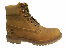 Timberland AF 6 Inch Premium Lace Up Brown Rugged Leather Womens Boots A19S5 T6